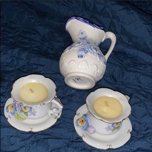 Accents - 3pc ceramic candle set